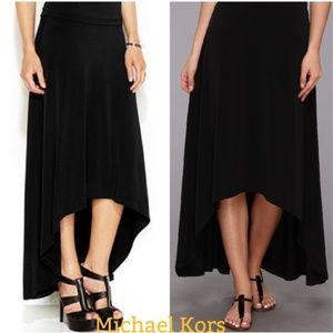 Michael Kors Matte Jersey High Low Maxi Skirt